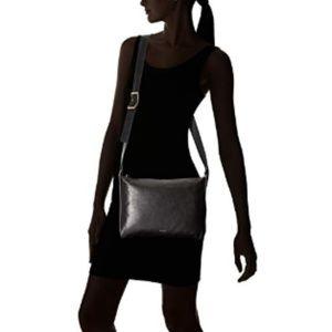 Skagen Anesa Crossbody Bag Cowhide Black Leather